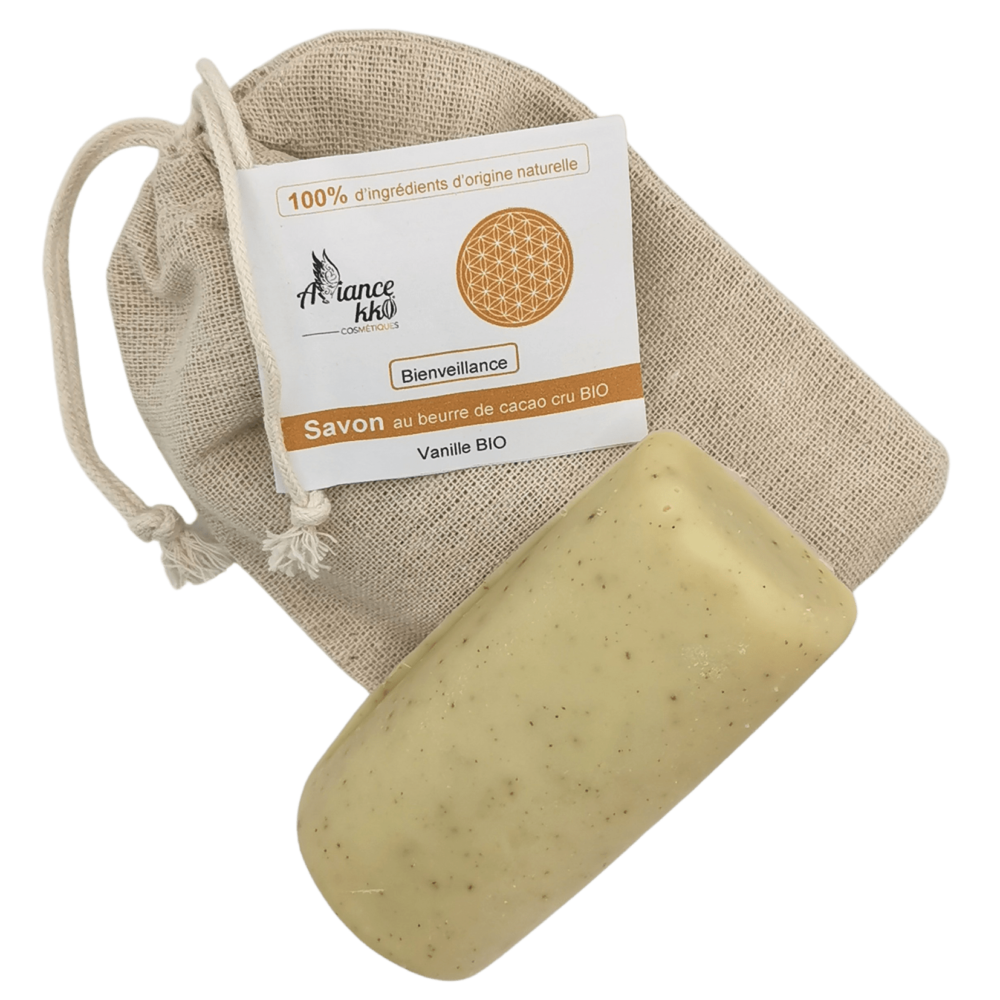 Savon Bienveillance Alliancekko vanille saponification à froid et artisanal